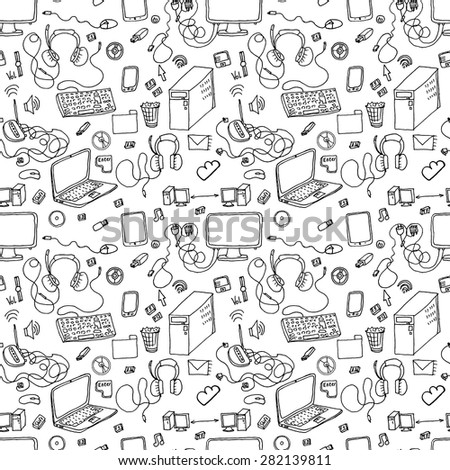 a vector seamless pattern of