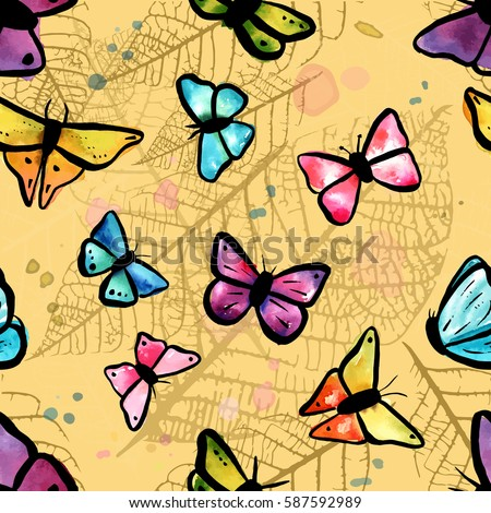 a vector seamless pattern with