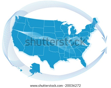 A vector usa map