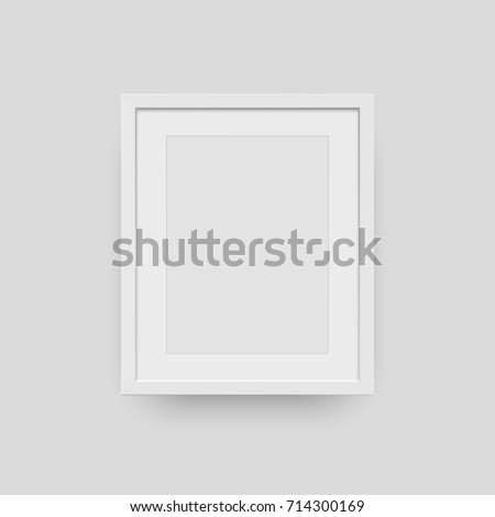A4 Vertical Blank Frame Isolated For Photo Vector Realisitc Paper