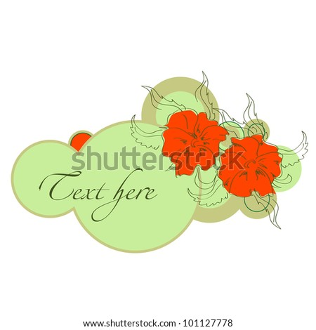 A vintage flowers circle banners