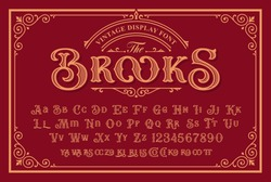 A Vintage Font with upper and lower case, numbers, and special signs as well. It is perfect for logo and packaging design, short phrases, or headlines.