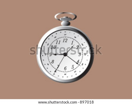 A vintage stopwatch in vector format