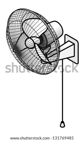 a wall fan with a pull cord