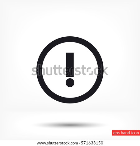 A WARNING vector icon
