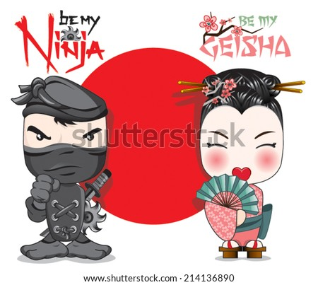 a warrior ninja and a lovely