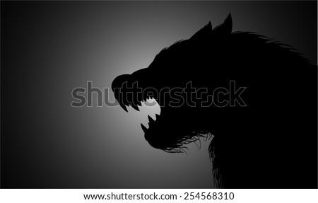 a werewolf lurking in the dark