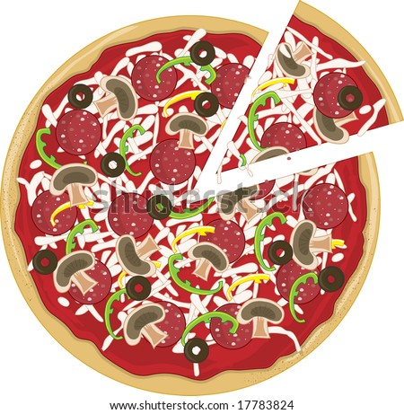 pizza slice clipart. tasty pizza with a slice