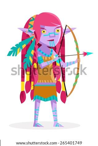 a wild purple elf hunting a