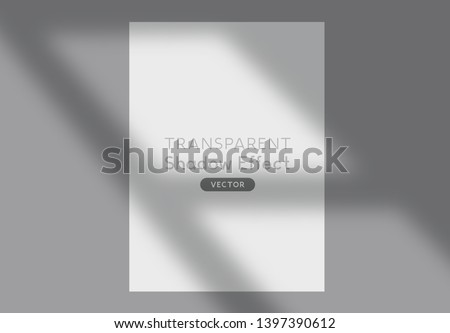 A window long shadow silhouette effect background vector effect.