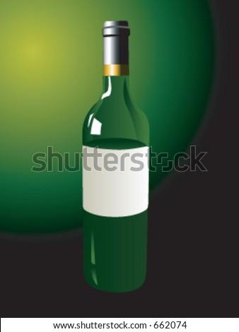 A wine bottle in vector format