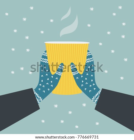 a winter illustration of two