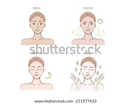 a woman illustration made skin