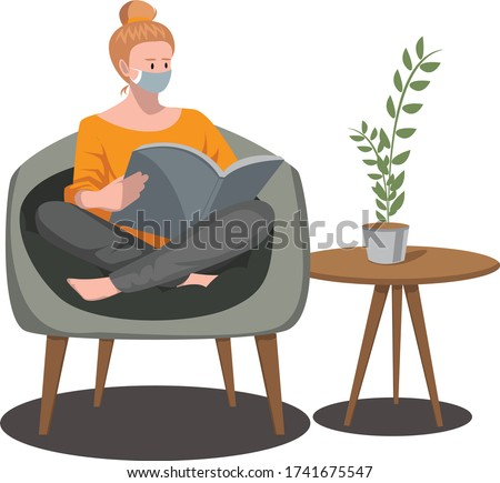 a woman reading book while