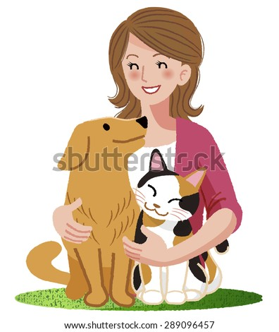 a woman smiling eyes at her dog