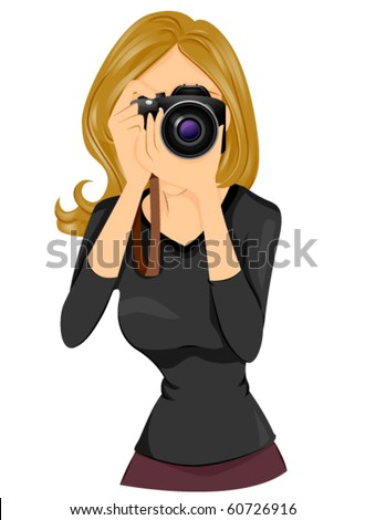 a woman taking a photo using a