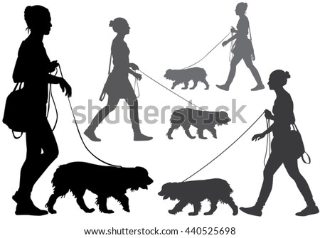 Free Dog Walk Vector - Download Free Vector Art, Stock Graphics & Images