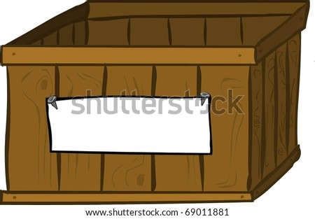 wooden box clipart. a wooden box clipart