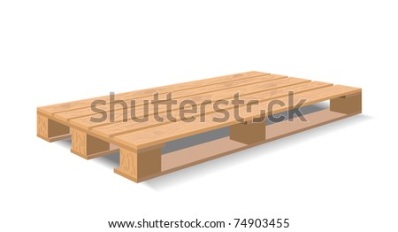 A wooden pallet is shown in the picture.