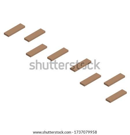 a wooden walkway makes an