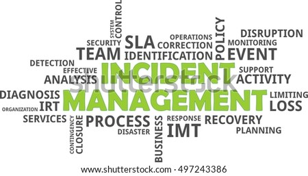 a word cloud of incident