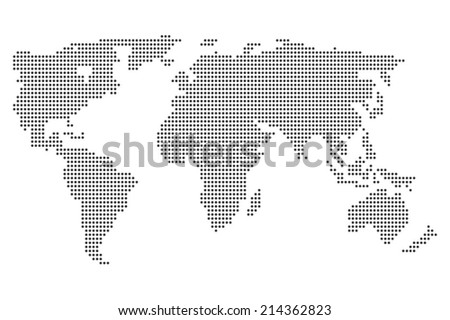A World map illustration isolated on clean background #214362823