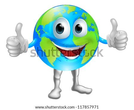 a world or globe mascot