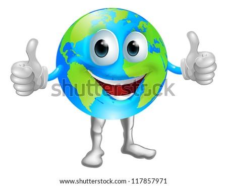 a world or globe mascot