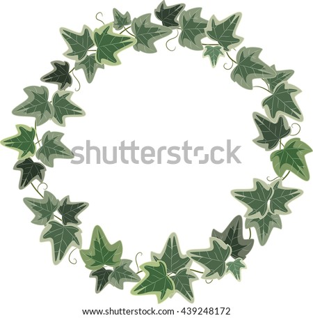 A Wreath Of Ivy Isolated On White Vector Illustration Eps 10