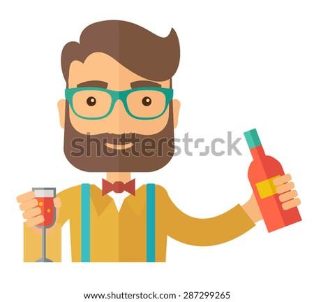 a young bartender preparing a
