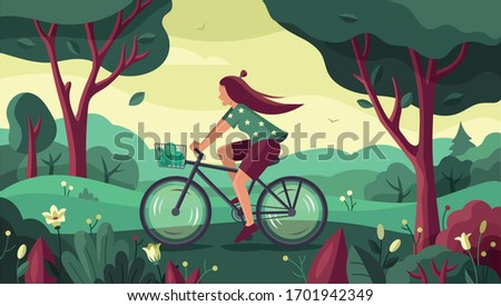 a young girl is riding a