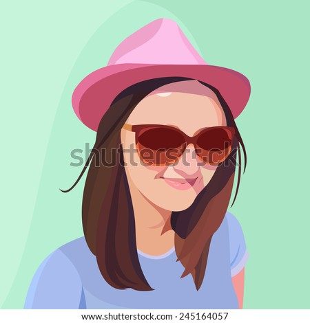 a young girl with hat and
