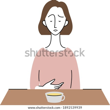 a young woman who has no appetite Stock photo ©
