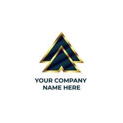 AA logo. Letter a logo design with premium style. Letter golden luxury logo.