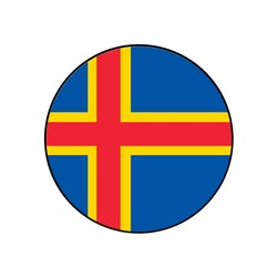 Aaland Islands a Nordic Territory Flag Icon belonging to Finland in Scandinavia.