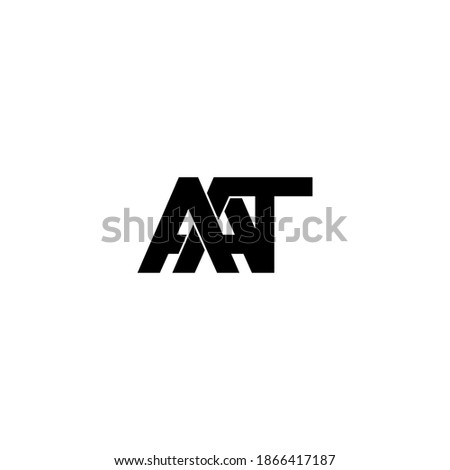aat letter original monogram logo design Stok fotoğraf ©