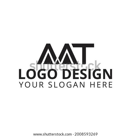 AAT Logo Design Business Logo  Stok fotoğraf ©