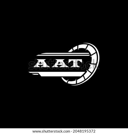AAT Unique abstract geometric vector logo design Stok fotoğraf ©