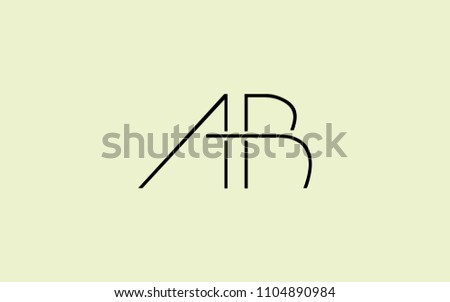 ab ba uppercase letter initial