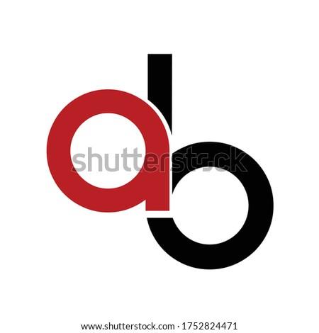 ab, iab, aib initials geometric logo and vector icon