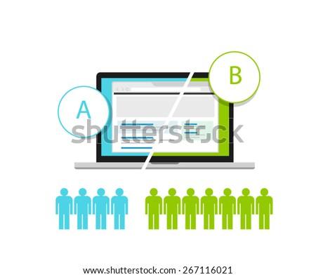 ab testing a b split comparison