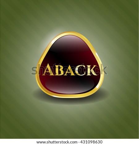 Aback golden badge or emblem