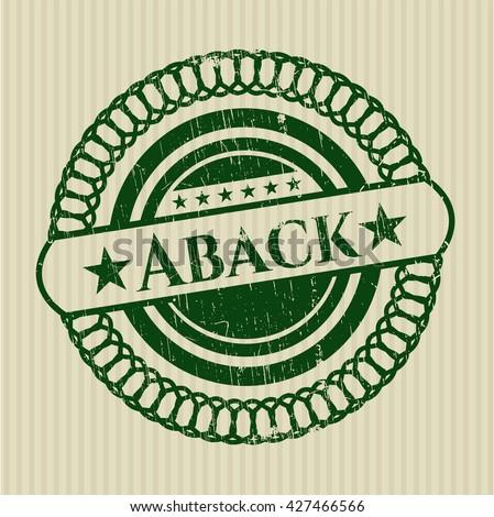 Aback grunge stamp