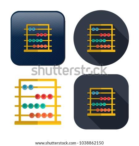 Abacus icon - education icon - mathematics school - symbol