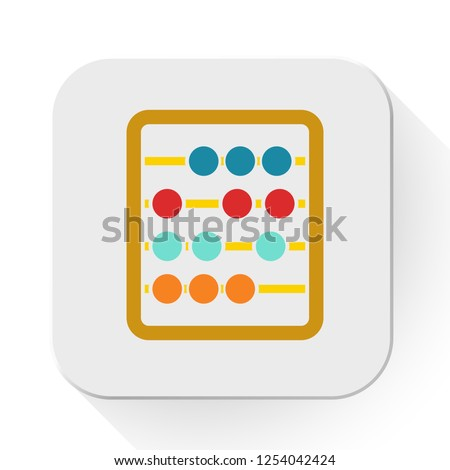 Abacus icon - education icon - mathematics school - symbol