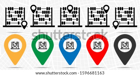 Abacus icon in location set. Simple glyph, flat illustration element of education theme icons