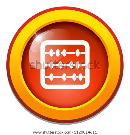 Abacus illustration isolated - education icon - mathematics school - symbol