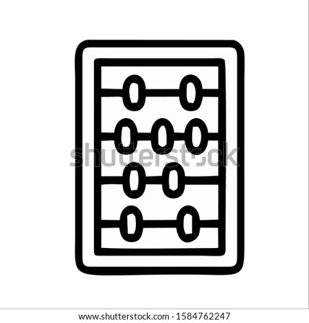 abacus mathematics math mathematical accounting image vector icon logo