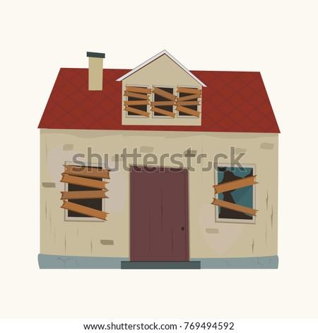 abandoned house flat design