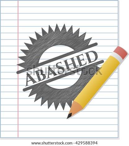 Abashed pencil strokes emblem